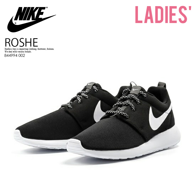 60866c6f8dcc NIKE (Nike) WOMENS NIKE ROSHE ONE (ローシワン) sneakers BLACK WHITE-DARK GREY  (black   white) 844994 002 ENDLESS TRIP pickup