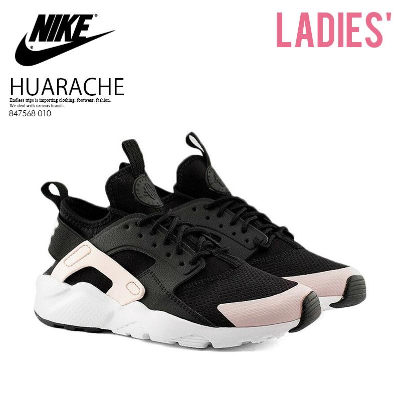 e2419061ce6e NIKE (Nike) AIR HUARACHE RUN ULTRA GS (エアハラチランウルトラ) sneakers BLACK BARELY  ROSE-WHITE (black   Rose   white) 847568 010 ENDLESS TRIP ENDLESSTRIP ...