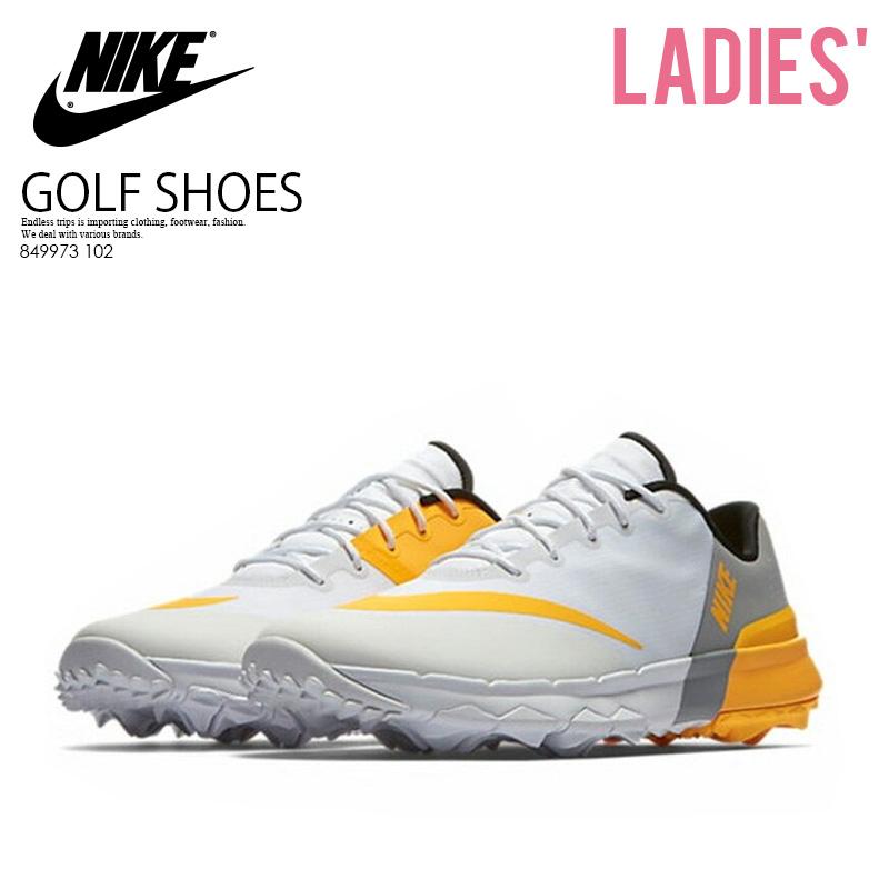 【希少!大人気!レディース ゴルフシューズ】 NIKE (ナイキ) WOMENS NIKE FI FLEX (FI フレックス) ウィメンズ GOLF SHOES スパイクレス WHITE/LASER ORANGE-WOLF GREY (ホワイト/オレンジ/グレー) 849973 102 ENDLESS TRIP ENDLESSTRIP エンドレストリップ