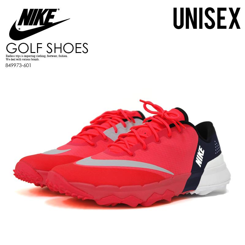 NIKE (Nike) WOMENS NIKE FI FLEX (F eye flextime) men s lady s golf shoes  SOLAR RED AARMORY NAVY-WHITE (pink   navy   white) 849973 601 endless trip  pickup f211c29df