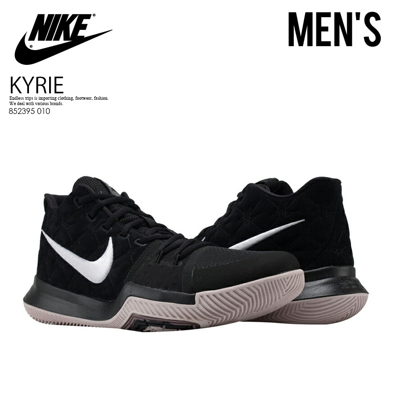 new style b117e 9acbe NIKE (Nike) KYRIE 3 (chi Lee 3) MENS sneakers basketball shoes BLACK WHITE-SILT  RED (black   red) 852395 010 ENDLESS TRIP pickup