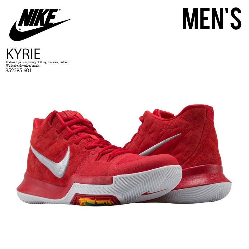d8b02157ab3 NIKE (Nike) KYRIE 3 (chi Lee 3) MENS sneakers basketball shoes UNIVERSITY  RED UNIVERSITY RED (red) 852395 601 ENDLESS TRIP pickup