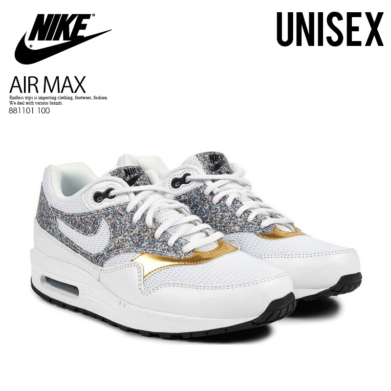best sneakers 04a49 f759c NIKE (Nike) WOMENS AIR MAX 1 SE (Air Max) women sneakers WHITE WHITE-BLACK  (white   black) 881101 100 ENDLESS TRIP ENDLESSTRIP end rest lip