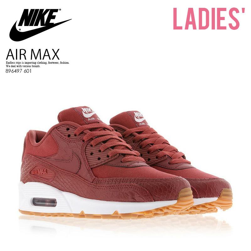 cheaper 1e301 9862b NIKE (Nike) WOMENS AIR MAX 90 PREMIUM (Air Max 90 premium) women sneakers  CEDAR CEDAR-GUM YELLOW-WHITE (cedar   yellow   white) 896497 601 pickup