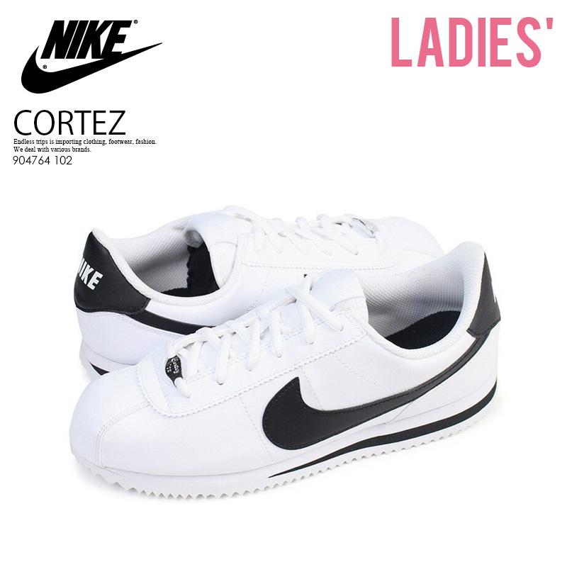 83d0969ad9c NIKE (Nike) NIKE CORTEZ BASIC SL (GS) (コルテッツベーシック) women sneakers WHITE  BLACK (white   black) 904764 102 ENDLESS TRIP pickup