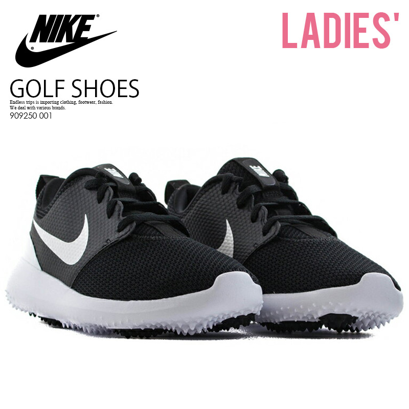 5a68a0021723 NIKE (Nike) ROSHE G JR (ロシェジー) WOMENS GOLF SHOES spikesless BLACK WHITE  (black   white) 909250 001 ENDLESS TRIP ENDLESSTRIP end rest lip