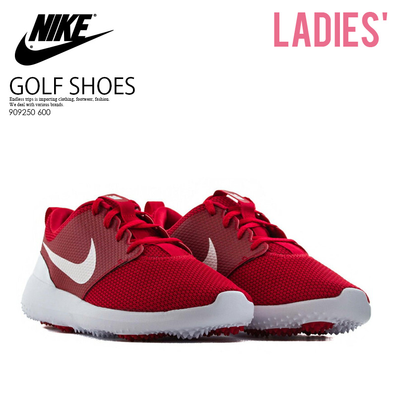 899f77445703 NIKE (Nike) ROSHE G JR (ロシェジー) WOMENS GOLF SHOES spikesless UNIVERSITY RED  WHITE (red   white) 909250 600 ENDLESS TRIP ENDLESSTRIP end rest lip
