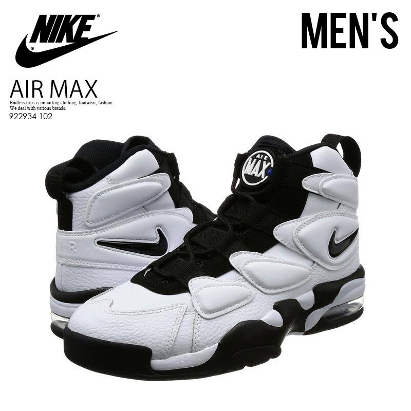 【入手困難!大人気!メンズ モデル】 NIKE(ナイキ)AIR MAX 2 UPTEMPO '94 (エア マックス 2 アップテンポ) MENS スニーカー バスケットボール WHITE/BLACK-ROYAL BLUE (ホワイト/ブラック/ブルー) 922934 102 ENDLESS TRIP pickup
