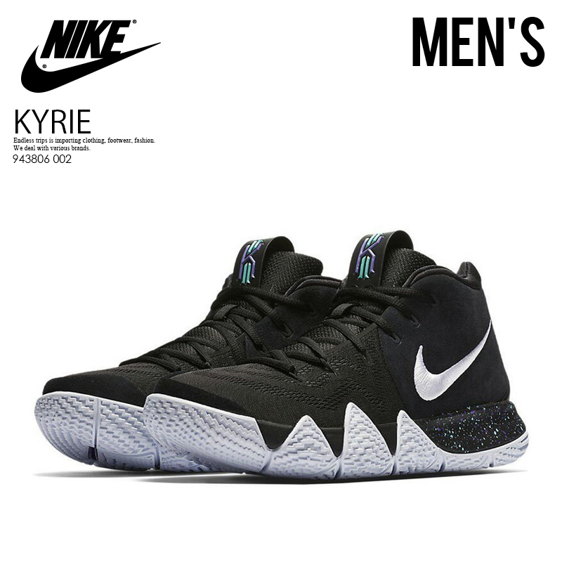 fb7657087fc1 NIKE (Nike) KYRIE 4 (chi Lee 4) sneakers basketball shoes basketball shoes  MENS BLACK WHITE (black   white) 943806 002 ENDLESS TRIP pickup