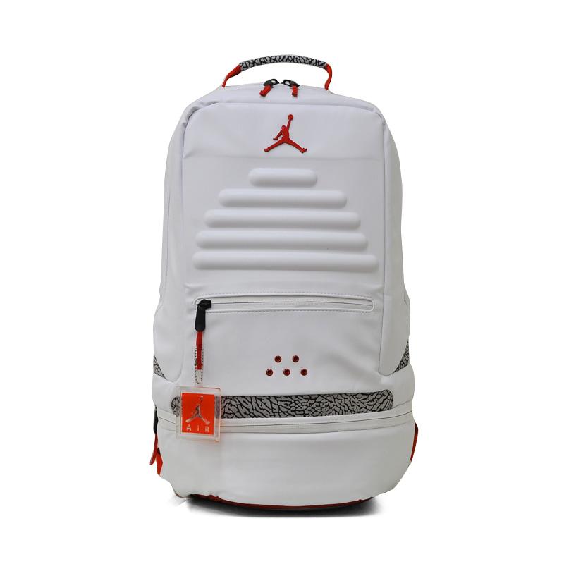 38c1b97bffe8 NIKE (Nike) JORDAN RETRO 3 BACKPACK (3 Jordan nostalgic backpacks) men s    Lady s day pack rucksack WHITE FIRE RED CEMENT (white   red) 9A0018 R69  ENDLESS ...