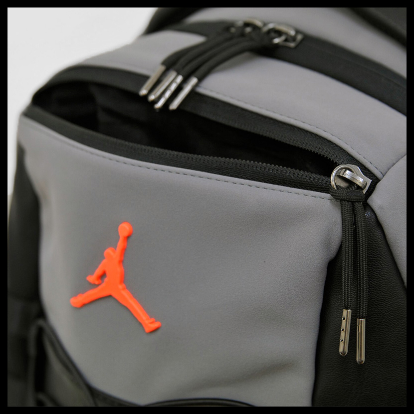 NIKE (Nike) JORDAN RETRO 10 BACKPACK (10 Jordan nostalgic backpacks) men s    Lady s day pack rucksack COOL GREY BLACK INFRARED (gray   black) 9A0037  G3X ... 0df6b22ae4cec
