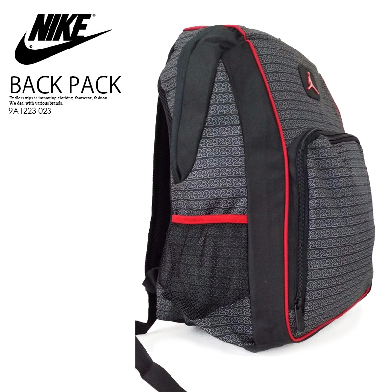 NIKE (Nike) JORDAN JUMPMAN 23 BACKPACK (Jordan jump man 23 backpack) men s    Lady s day pack rucksack BLACK (black) 9A1223 023 ENDLESS TRIP  ENDLESSTRIP end ... 92bb6d16a2b45