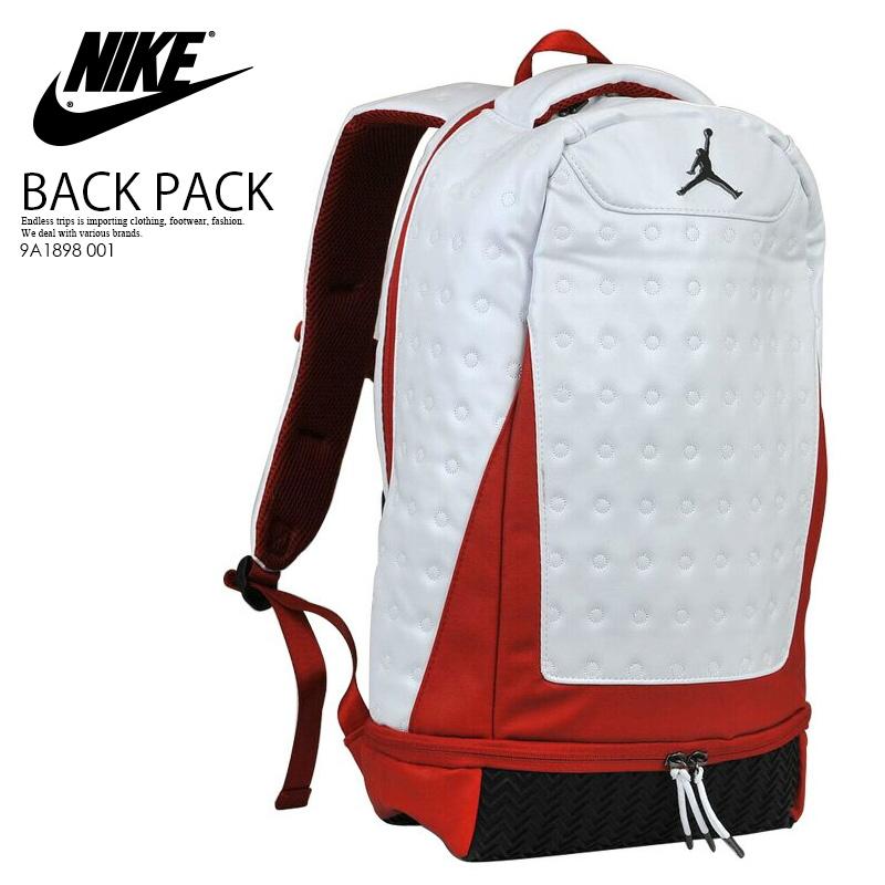 newest 72a29 80f7d NIKE (Nike) JORDAN RETRO 13 BACKPACK (13 Jordan nostalgic backpacks) men's  / Lady's unisex day pack rucksack WHITE/GYM RED (white / red) 9A1898 001 ...