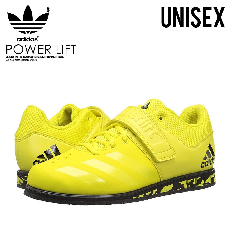 【希少!大人気!ユニセックス モデル】 adidas(アディダス)POWERLIFT.3.1 (パワーリフト) メンズ レディース パワーリフティング ウェイトリフティング 重量挙げ シューズ SHOCK YELLOW/SHOCK YELLOW/BLACK (イエロー/ブラック) AC7468 ENDLESS TRIP