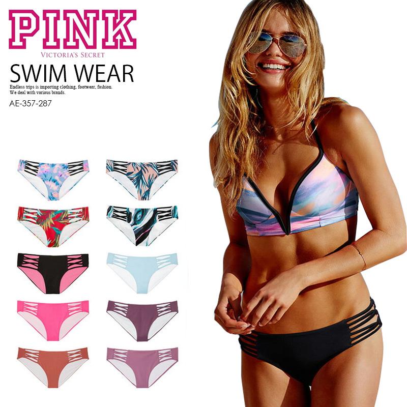 111b5834bf Victoria's Secret (Victoria's secret) PINK LACE-UP BIKINI BOTTOM (pink race  up ...