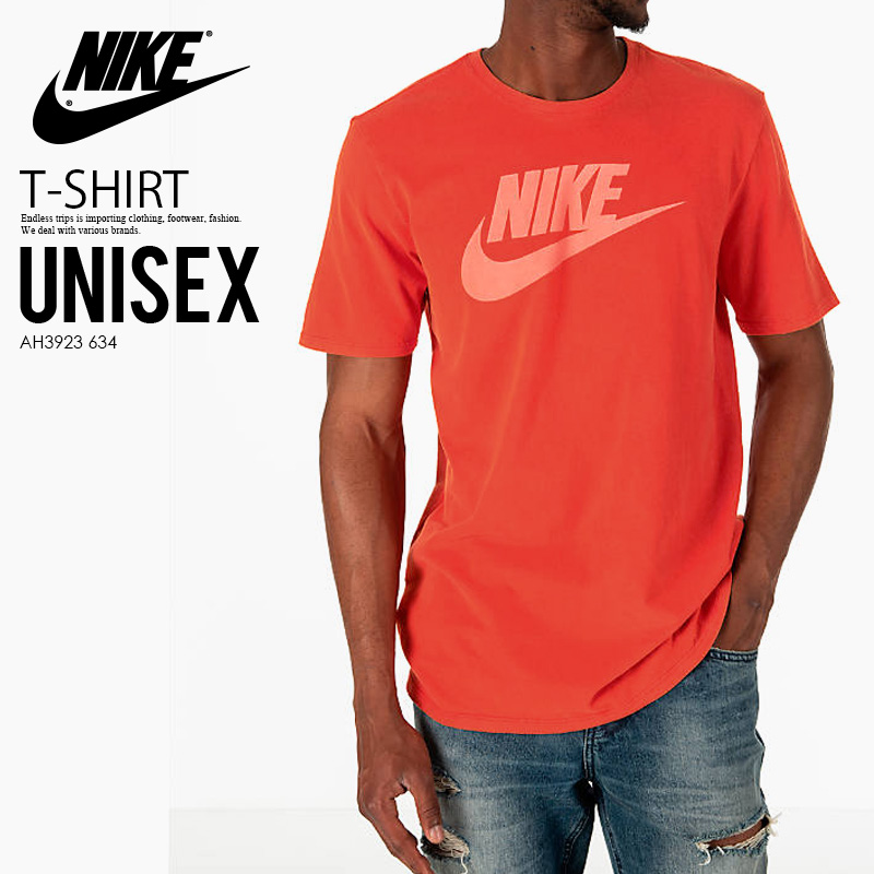 classic styles best place really comfortable NIKE (Nike) WASH PACK 1 T-SHIRT (wash pack T-shirt) men's lady's logo RED  ORANGE (red orange) AH3923 634 ENDLESSTRIP end rest lip