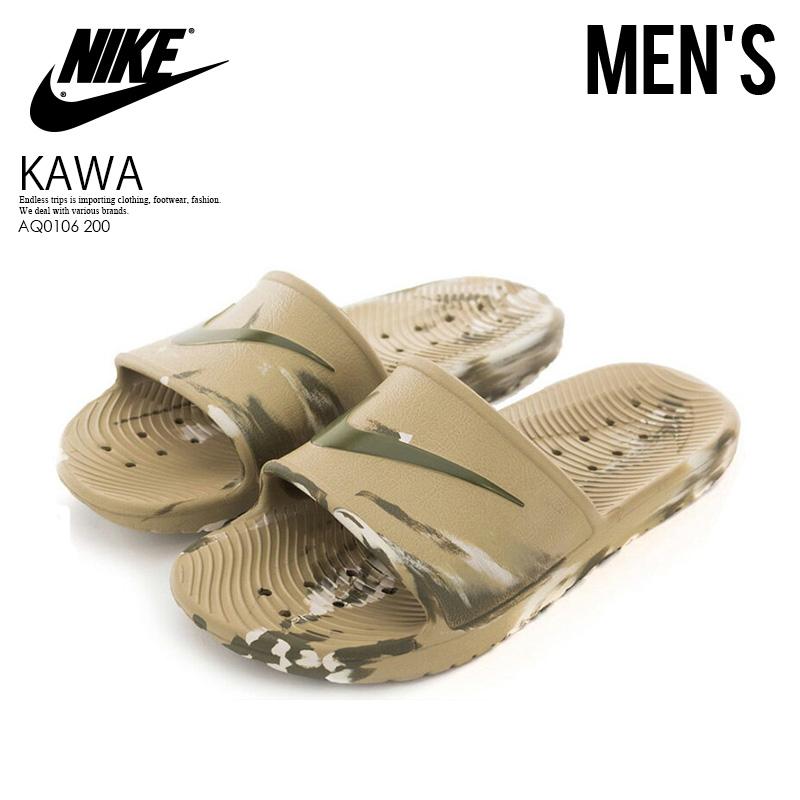 765f8ca7b4cd NIKE (Nike) KAWA SHOWER MARBLE (kava shower marble) シャワーサンダルヘルシーベナッシサンダル  KHAKI MEDIUM OLIVE-DESERT SAND (khaki beige) AQ0106 200 ENDLESS ...