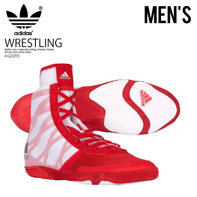 【希少!大人気!メンズ レスリングシューズ】 adidas(アディダス)PRETEREO III. スリー 3 WRESTLING SHOES ボクシング トレーニング COLRED/SILVMT/FTWWHT (レッド/ホワイト) AQ3293 ENDLESS TRIP ENDLESSTRIP エンドレストリップ