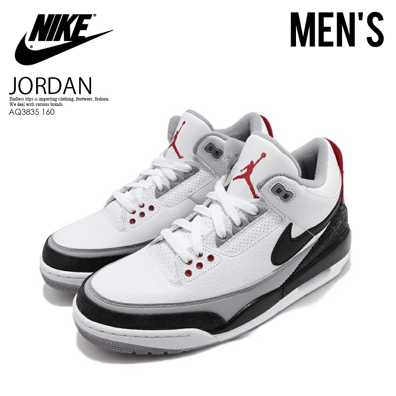 competitive price cfd76 bd7d9 NIKE (Nike) AIR JORDAN 3 RETRO TINKER NRG (Air Jordan 3 レトロティンカー) MENS men sneakers  WHITE BLACK-FIRE RED (white   black red) AQ3835 160 ENDLESS TRIP ...