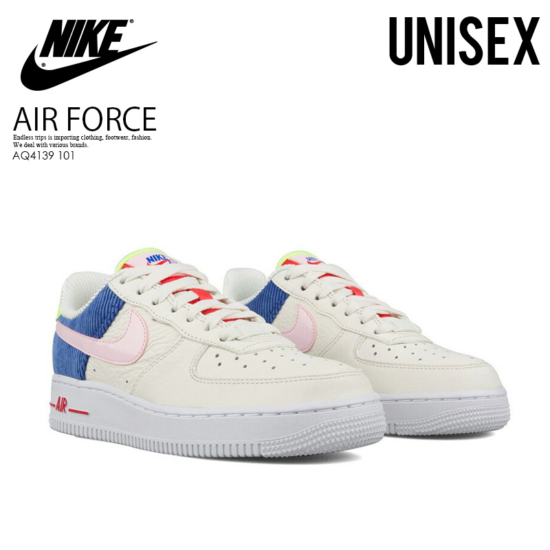 NIKE (Nike) WOMENS AIR FORCE 1 LOW (Air Force One) men's lady's sneakers SAILARCTIC PINK RACER BLUE (off white pink blue) AQ4139 101 ENDLESS TRIP