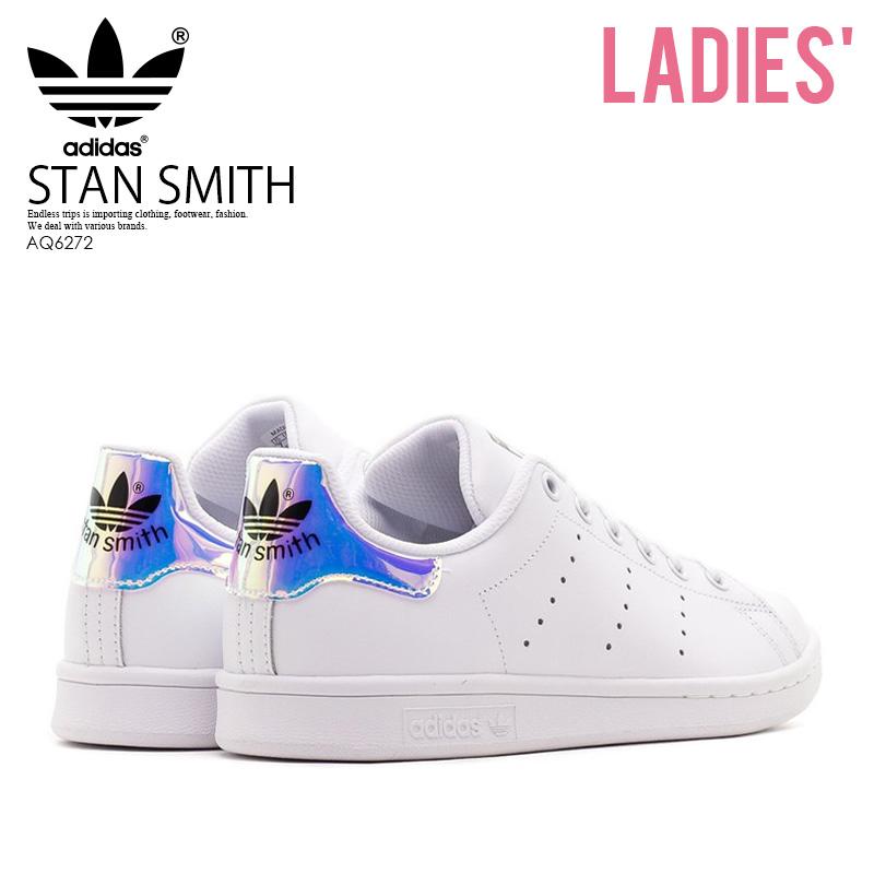 new concept ea24f 27474 adidas ORIGINALS (Adidas) STAN SMITH J (Stan Smith) Ladys shoes sneakers  FTWWHTMETSILWTWWHT (white  metallic silver) AQ6272 ENDLESS TRIP  ENDLESSTRIP end ...