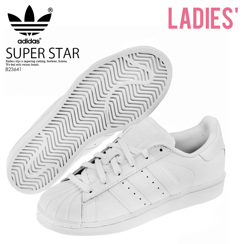 size 40 34168 cba4d adidas ORIGINALS (Adidas) SUPERSTAR FOUNDATION J (superstar) Lady's shoes  sneakers FTWWHT/FTWWHT/FTWWHT (all white) (B23641)