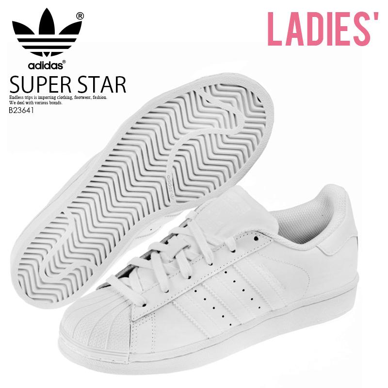【希少なレディースサイズ】 adidas ORIGINALS(アディダス) SUPERSTAR FOUNDATION J(スーパースター) レディース シューズ スニーカー FTWWHT/FTWWHT/FTWWHT(オールホワイト) (B23641)