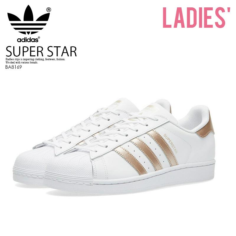 【希少!大人気!レディース モデル】 adidas(アディダス)SUPERSTAR W (スーパースター) WOMENS ウィメンズ スニーカー シューズ FTWWHT/SUPCOL/FTWWHT (ホワイト/ローズメタリック) BA8169