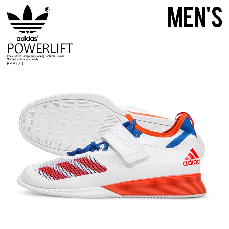 【希少!大人気!メンズ モデル】 adidas(アディダス)CRAZY POWER (クレイジー パワー) MENS パワーリフティング 重量挙げ シューズ FTWWHT/ENERGY/CROYA (ホワイト/オレンジ/ブルー) BA9170