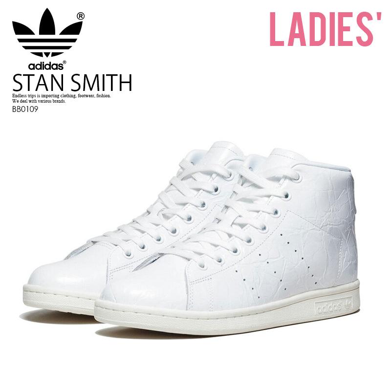 adidas (Adidas) STAN SMITH MID W (Stan Smith) women sneakers mid cut model FTWWHTFTWWHTOWHITE (white) BB0109 ENDLESS TRIP
