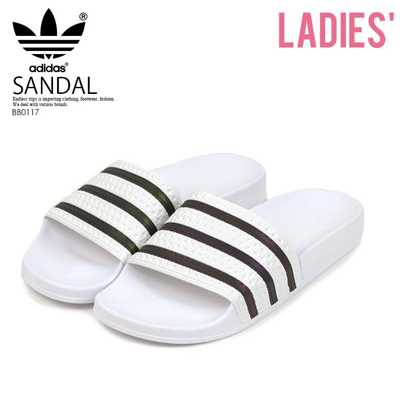 77aee41af adidas (Adidas) ADILETTE (アディレッタ) WOMENS women MENS men sports shower Hel  sea sandals FTWWHT CBLACK FTWWHT (white   black) BB0117