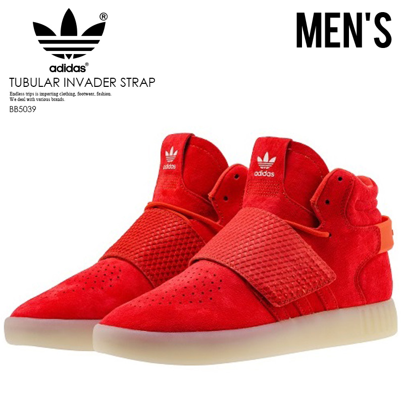 new product 0a4d9 0a68e adidas (Adidas) TUBULAR INVADER STRAP (チュブラーインベーダーストラップ) tube rasas knee  car RED/RED/VINWHT (red) BB5039 ENDLESS TRIP ENDLESSTRIP end rest lip