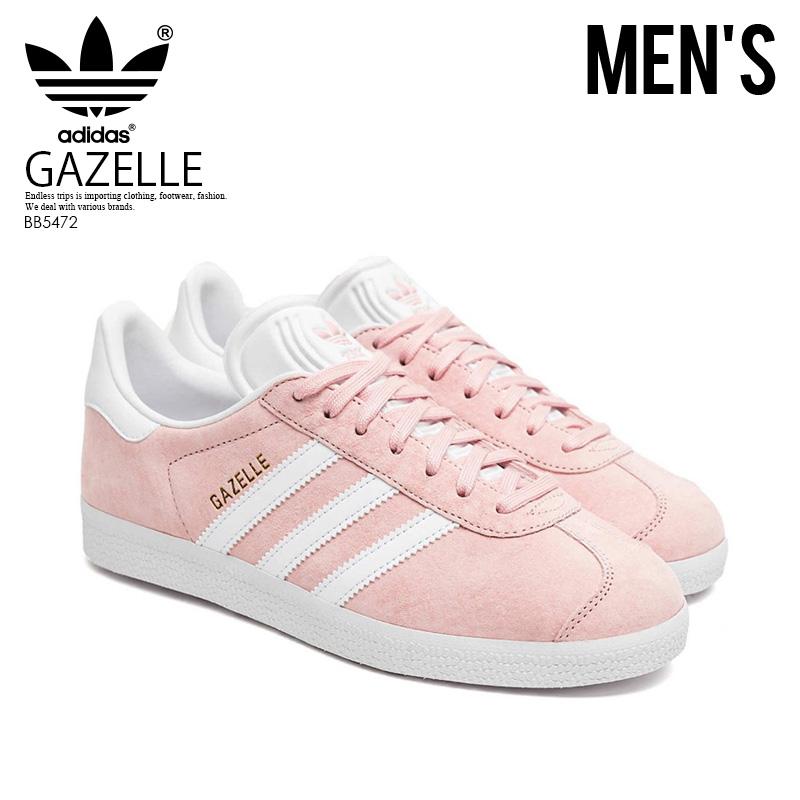 【希少!大人気! メンズ モデル】 adidas(アディダス)GAZELLE (ガゼル) MENS スニーカー VAPPNK/WHITE/GOLDMT (ピンク/ホワイト/ゴールド) BB5472