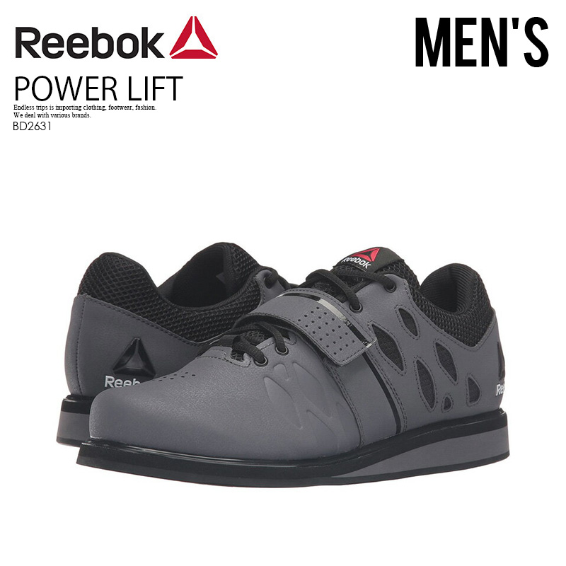 Reebok (Reebok) LIFTER PR (lifter) MENS cross fitness training powerlifting weight lifting shoes ASH GREYBLACKWHITE (gray black white) BD2631