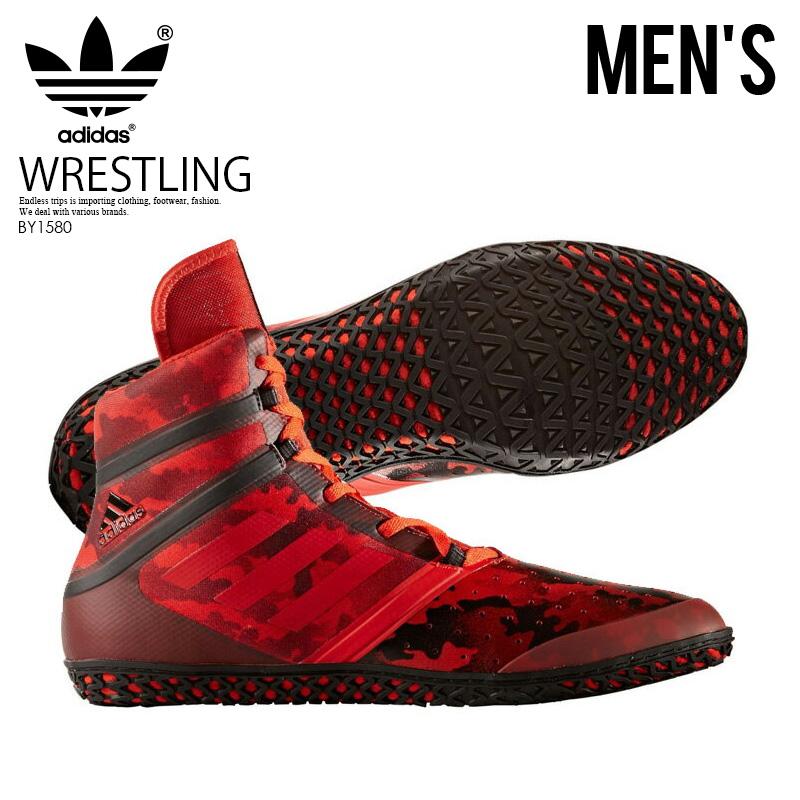 12427a15ce8 adidas (Adidas) FLYING IMPACT (premature start impact) WRESTLING SHOES  boxing training CORRED SCARLE CBLACK (red   black) BY1580 ENDLESS TRIP  ENDLESSTRIP ...