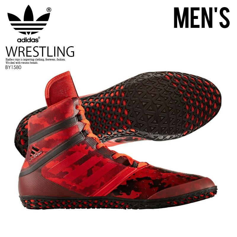 【希少!大人気!メンズ レスリングシューズ】 adidas(アディダス)FLYING IMPACT (フライング インパクト) WRESTLING SHOES ボクシング トレーニング CORRED/SCARLE/CBLACK (レッド/ブラック) BY1580 ENDLESS TRIP ENDLESSTRIP エンドレストリップ【外箱ダメージあり】