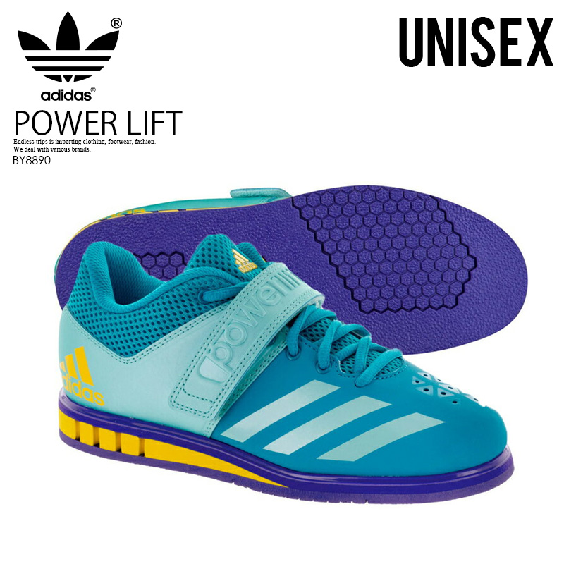 【希少!大人気!ユニセックス モデル】 adidas(アディダス)POWERLIFT.3.1 W (パワーリフト) メンズ レディース パワーリフティング ウェイトリフティング 重量挙げ シューズ ENERGY BLUE/ENERGY AQUA/NOBLE INK (ブルー/アクア/インク) BY8890 【外箱ダメージあり】