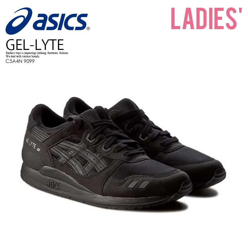 brand new 94a7d edaf9 Rakuten supermarket SALE! Can ship Asics Tiger (ASICS tiger) Tiger GEL-Lyte  III GS Lady's sneakers shoes BLACK/BLACK black / black (C5A4N 9099) ...