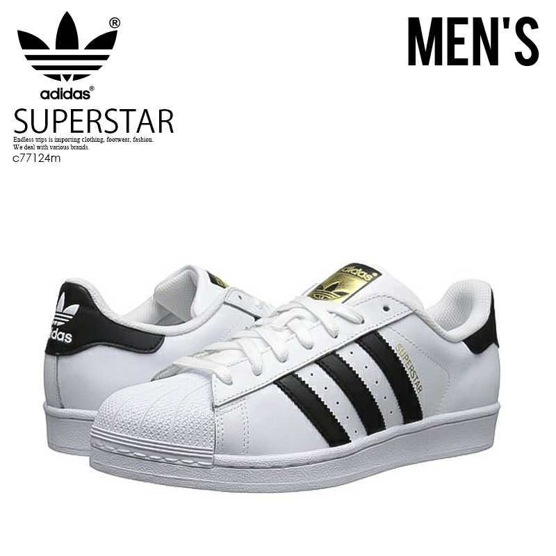 the best attitude 042c9 4ea16 ENDLESS TRIP adidas ORIGINALS (adidas) SUPERSTAR (superstar) mens Womens unisex  shoes sneakers FTW WHITECORE BLACKFTW WHITE black  white (C77124) ...