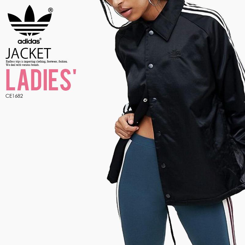 2943f6e4617e Rakuten shopping marathon adidas (Adidas) WOMENS STYLING COMPLEMENTS  WINDBREAKER (コンプリメンツウインドブレーカー) women BLACK WHITE (black   white) CE1682