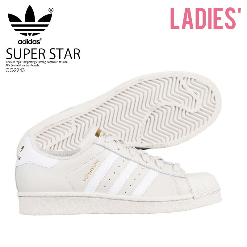 new product 96460 af9bf adidas (Adidas) SUPERSTAR J (superstar) WOMENS women sneakers shoes TALC FTWWHTGOLDMT (talc  white  gold) CG2943 ENDLESS TRIP ENDLESSTRIP end  rest lip