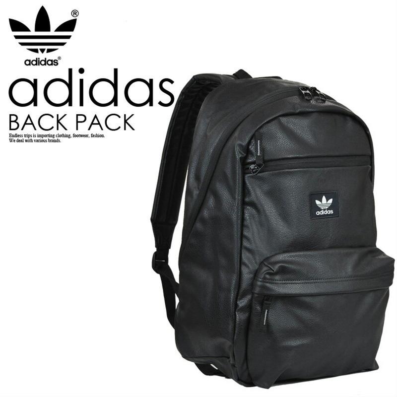 370bf5059a7a adidas (Adidas) NATURAL PU LEATHER BACKPACK (natural PU leather backpack)  men s   Lady s unisex day pack rucksack BLACK (black) CI1452 ENDLESS TRIP  ...
