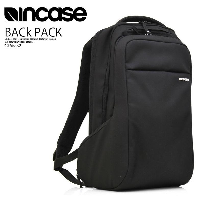【大人気!入手困難!】INCASE (インケース) ICON PACK (アイコンパック) メンズ/レディース ユニセックス デイパック リュック BLACK (ブラック) CL55532 ENDLESS TRIP ENDLESSTRIP エンドレストリップ