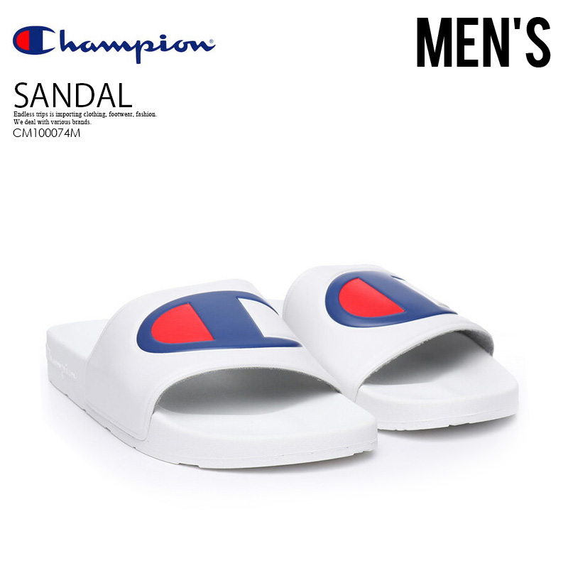 01206680d893 CHAMPION (champion) IPO SLIDE (IPO slide) healthy sandals WHITE (white)  CM100074M ENDLESS TRIP pickup