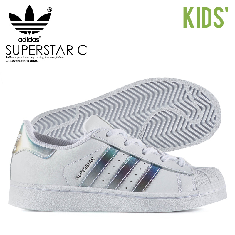 new style b2ffc 6c92a Rakuten supermarket SALE! adidas (Adidas) SUPERSTAR C (superstar C) baby &  kids kids sneakers infant sneakers youth FTWWHT/FTWWHT/GOLDMT (white) ...
