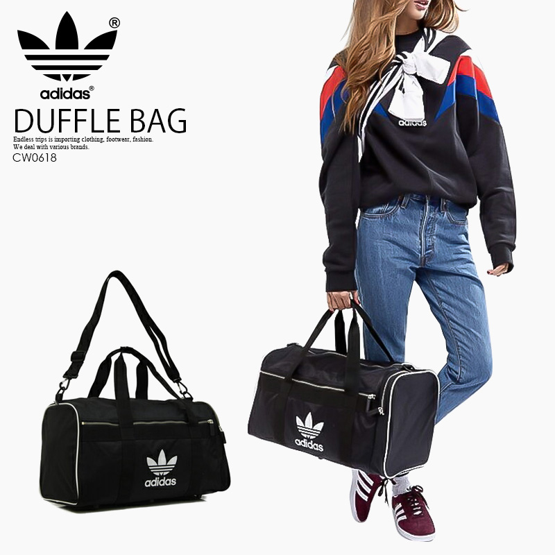 437bc5e2d4 adidas (Adidas) DUFFLE BAG LARGE DUFFLE L ac  (duffel bag luggage) men s  lady s unisex Boston bag large-capacity BLACK (black) CW0618 ENDLESS TRIP  pickup