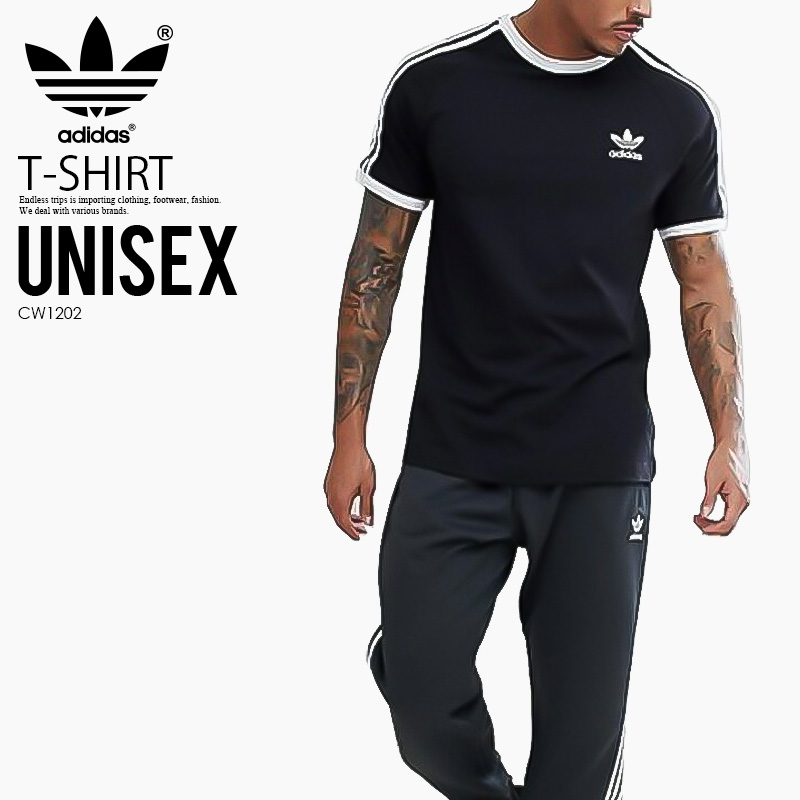 6af16f3807b0 Rare; is hard to obtain it; is unisex T-shirt adidas (Adidas) 3-STRIPES TEE  (3 stripe T-shirt) MENS LADYS men gap Dis T-shirt short sleeves California  ...