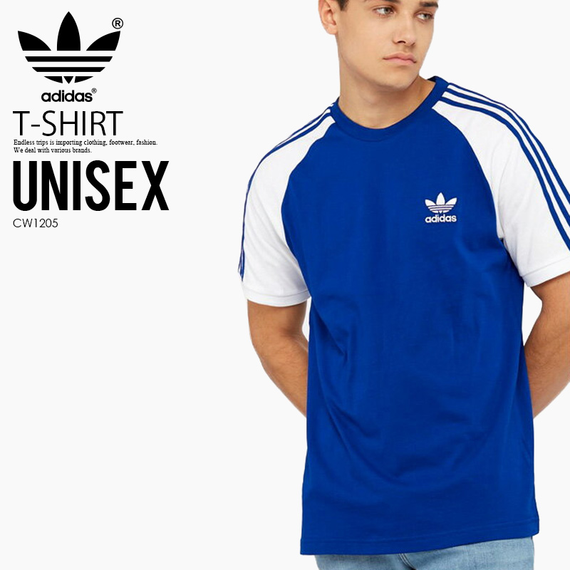 super popular b191f 6f722 adidas (Adidas) 3-STRIPES TEE (3 stripe T-shirt) mens ladys T-shirt short  sleeves CROYAL (blue  white) CW1205 ass recreation sports mixture ENDLESS  TRIP ...