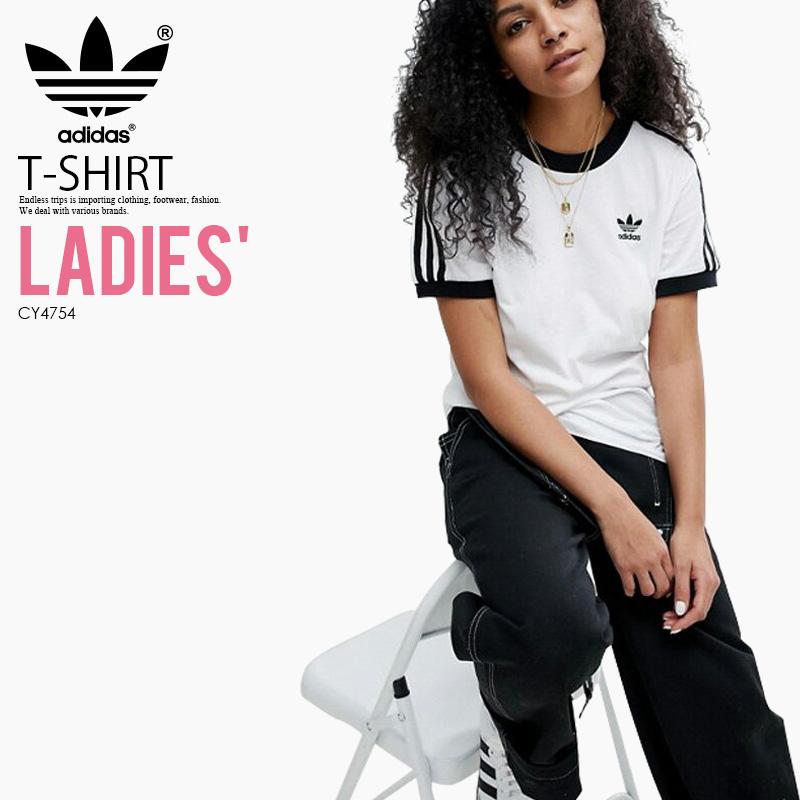 7b088548eb ENDLESS TRIP: It is lady's T-shirt adidas (Adidas) WOMENS 3-STRIPES ...