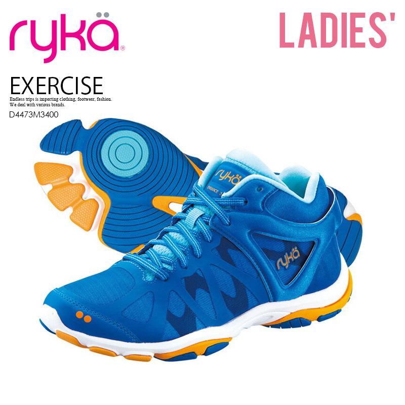 【希少!大人気!レディース モデル】 RYKA (ライカ) ENHANCE 3 (エンハンス 3) ウィメンズ ダンス エクササイズ シューズ スニーカー BLUE/ORNGE (ブルー/オレンジ) D4473M3400 ENDLESS TRIP ENDLESSTRIP エンドレストリップ